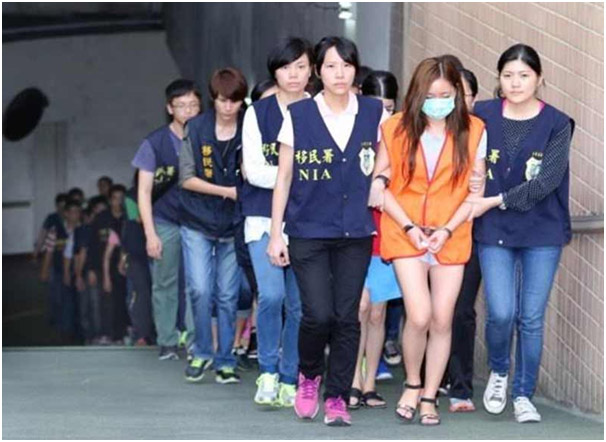 Taiwan Mainland Prostitution Bust Photo