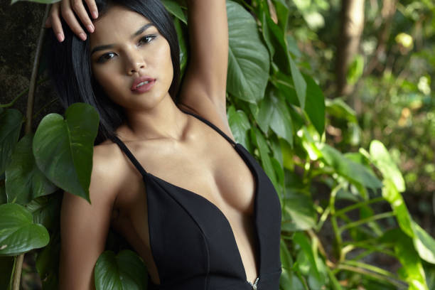 Asian Beauty In Forest
